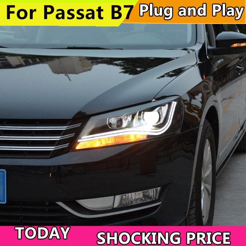 Style de voiture doxa pour VW Passat B7 phares 2011-2015 amérique Passat CC phare LED DRL Bi xénon lentille feux de croisement