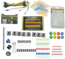 Starter Kit Electronic Fans Kits Breadboard Cable Resistor Capacitor LED Potentiometer For Arduino