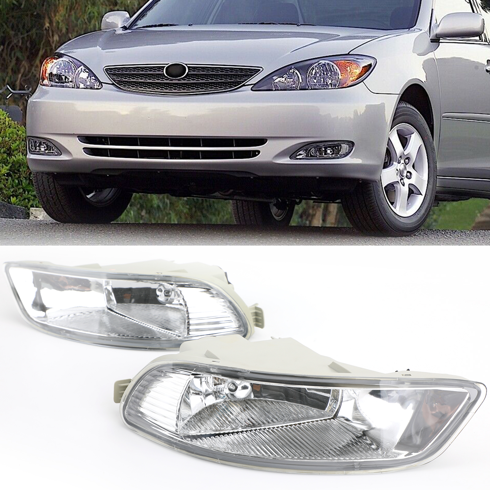 Areyourshop 2 Pair Front Bumper Lamp Clear Fog Light For Toyota Corolla Camry Solara 2005 2008 Front Fog Light Car Accessories
