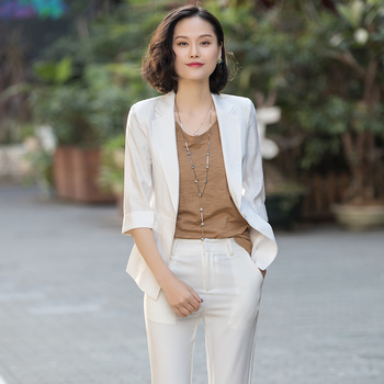 Summer small suit jacket female thin section 2020 new summer casual Slim black short paragraph