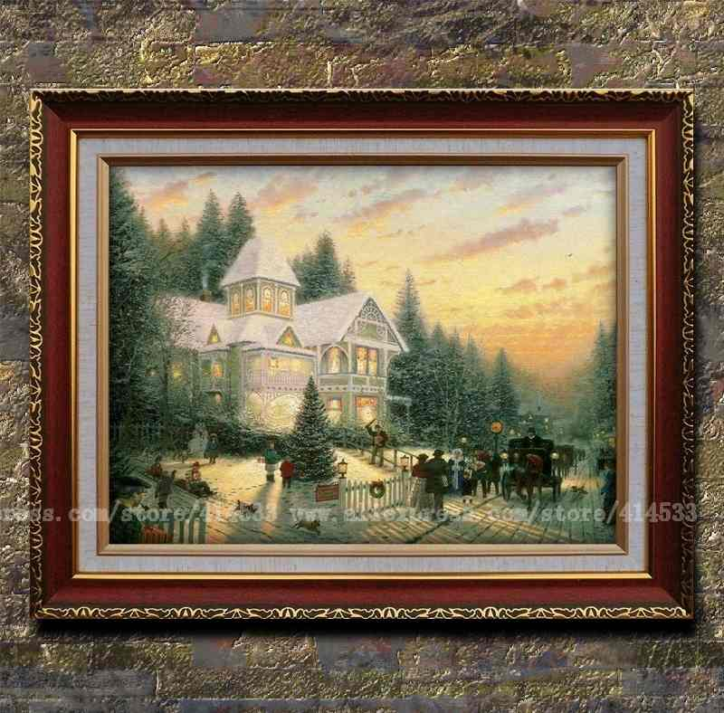 Thomas kinkade prints of oil painting victorian christmas - Home interiors thomas kinkade prints ...