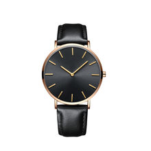 2019 Watch Men New Fashion Top Brand Simple Luxury Retro Design Business High Quality Leather Black Relogio Masculino Reloj(China)