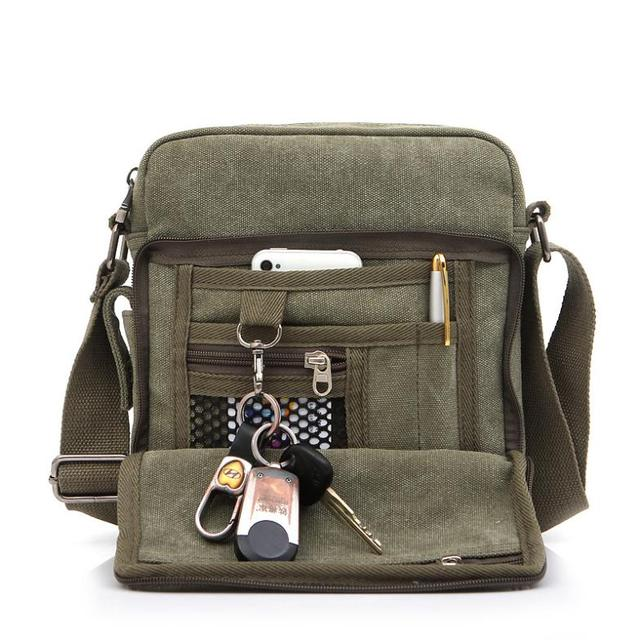 e62712eaa6 Men Messenger Bags Canvas Vintage Male Crossbody Bags Satchel Shoulder Bags  Handbags Bolsa Feminina Sac A