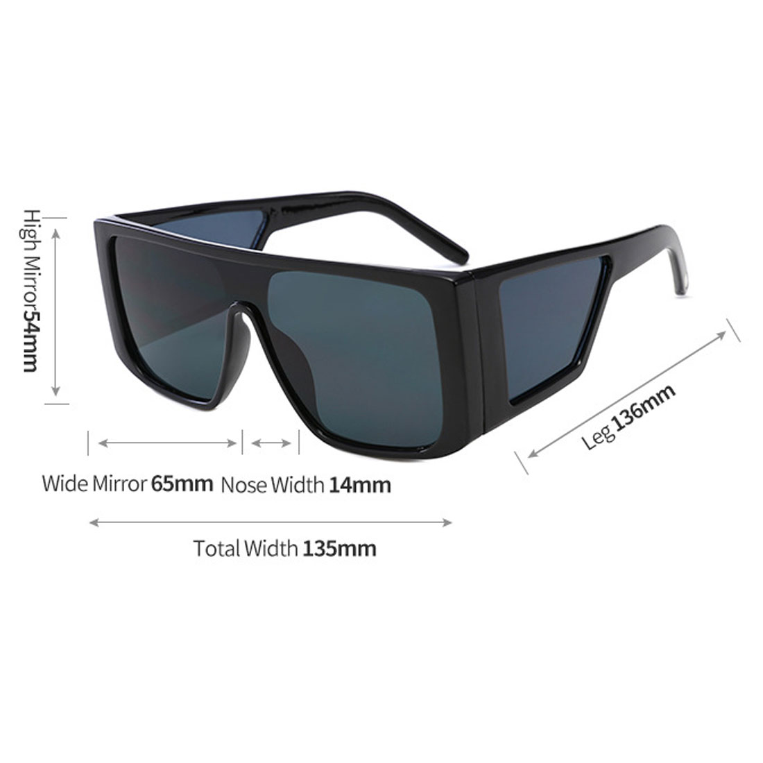 Fashion Unisex Oversize Black Steampunk Sunglasses Driving Cool Sun Glasses Square Male Female Oculos Eyewear in Men 39 s Sunglasses from Apparel Accessories
