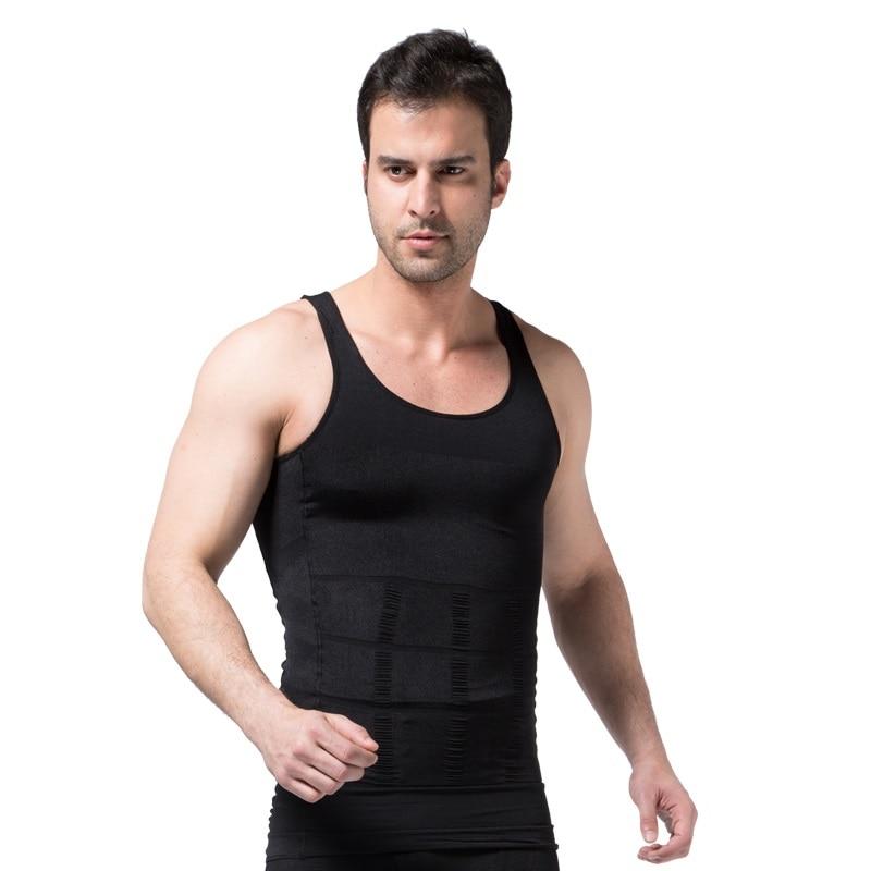 2019 Men Slimming Body Shaper Tummy Shaper Vest Slimming Underwear Corset Waist Waist Cincher Men Bodysuit 3
