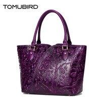 TOMUBIRD женская сумка из натуральной кожи модные роскошные сумки женские сумки дизайнерские тисненые женские кожаные сумки сумка на плечо