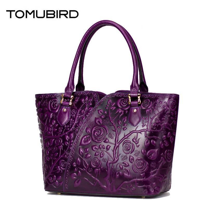 TOMUBIRD women genuine leather bag fashion luxury handbags women bags designer embossed women leather handbags shoulder bag