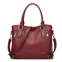 2019 woman Brand bags over shoulder Soft Pu Leather Casual Totes For Female Luxury Large Capacity Handbags
