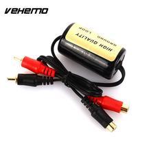 Vehemo RCA к RCA подавитель шума Фильтр подавитель шума убийца аудио плеер аксессуары Аудио шум фильтр прочный