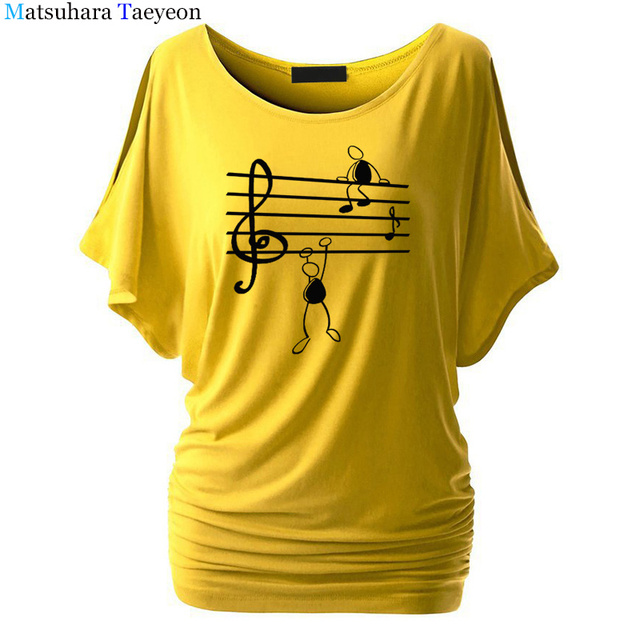 Music Notes Funny Printed T Shirt Women Summer Animal Short Sleeve Tshirts Harajuku T-Shirt Girl Casual Tops t shirt Brand 4