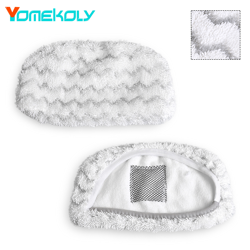 1PC Steam Mop Pad for Bissell Symphony 1252 Series Floor Vacuum Cleaing Cloth Pads Replacements Mopping Cloth Pads steam mop microfiber cloth floor cleaning triangle pads cover for water mop steam mop cloth cover for black