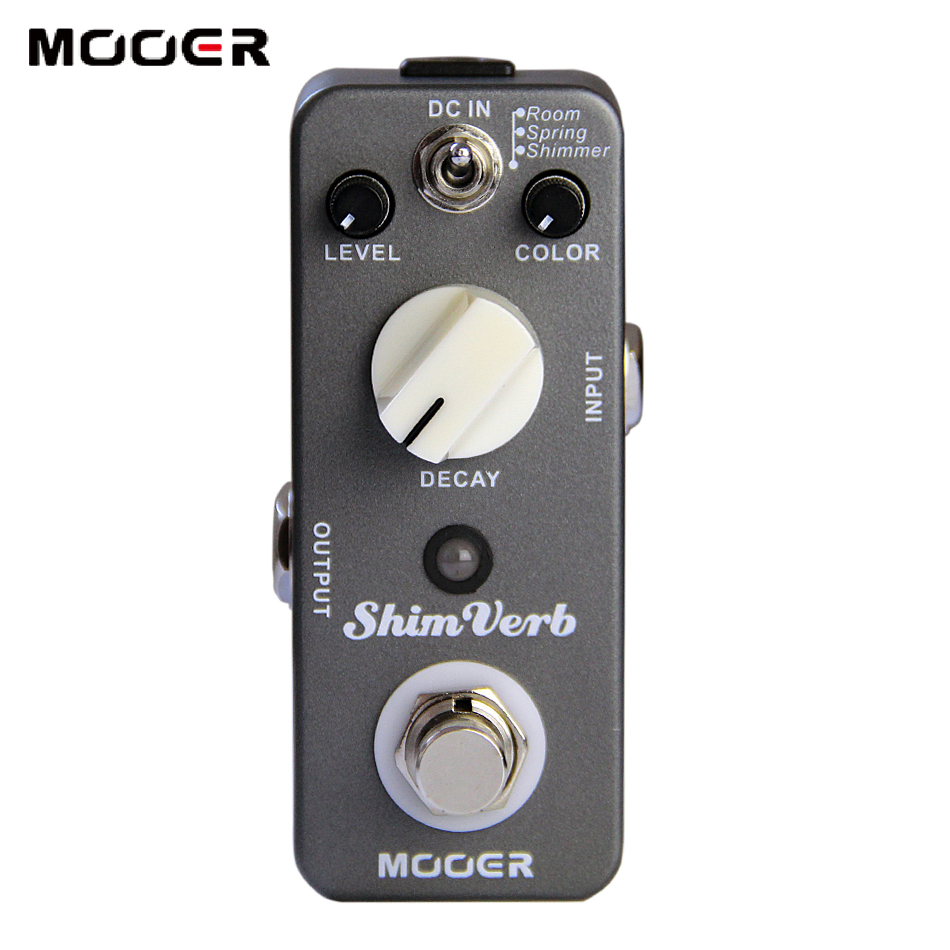 MOOER ShimVerb Reverb Pedal True bypass 3 Reverb Modes: Room, Spring, Shimmer Guitar effect pedal mooer shimverb digital reverb guitar effect pedal true bypass with free connector and footswitch topper