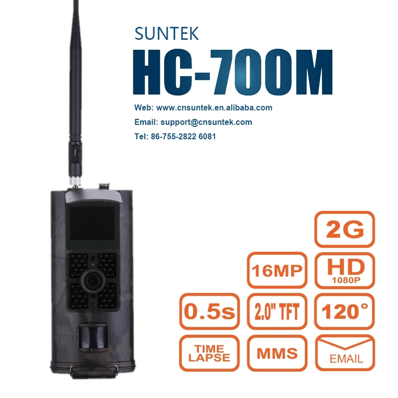 SuntekCam Hunting Camera 2G GSM MMS SMS  Trail Camera  0.5s Trigger Time 16MP Night Vision Wildlife Surveillance HC700MSuntekCam Hunting Camera 2G GSM MMS SMS  Trail Camera  0.5s Trigger Time 16MP Night Vision Wildlife Surveillance HC700M