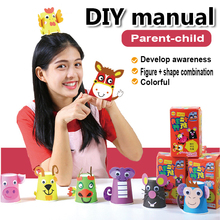 kindergarten lots arts crafts diy toys Paper Cup crafts kids educational for children's toys gift girl/boy christmas gift 16904