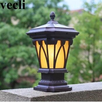 Star anise shape waterproof dustproof outdoor post light fixtures park countyard villa exterior post lights