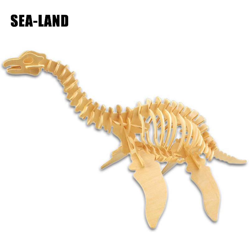 Aliexpress Value Set Sale 3D Diy Wooden Puzzles Prehistoric Dinosaur Games For Children Educational Puzzles Montessori IA Toys in Puzzles from Toys Hobbies