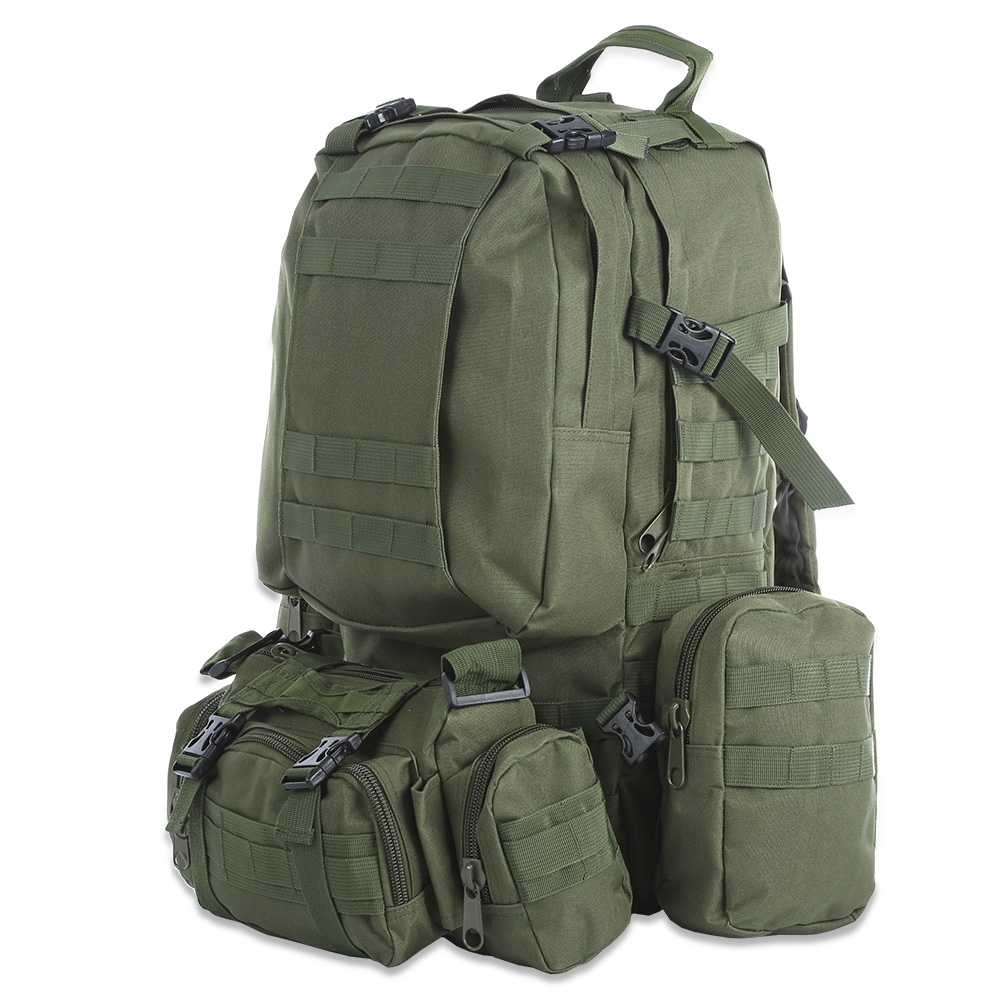 50L Outdoor Backpack Multifunction Sports Sport Bag Molle Tactical Bag Water Resistant Military Rucksack For Climbing Camping