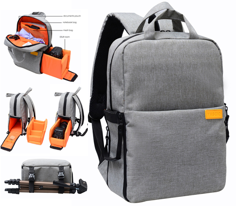 Professional DSLR Camera Bag Case Photo backpack for Nikon Canon with Rain Cover Waterproof Shockproof Travel