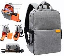 Professionnelle dslr sac photo/cas photo sac à dos pour nikon canon avec housse de pluie étanche antichoc voyage photo sacs à dos