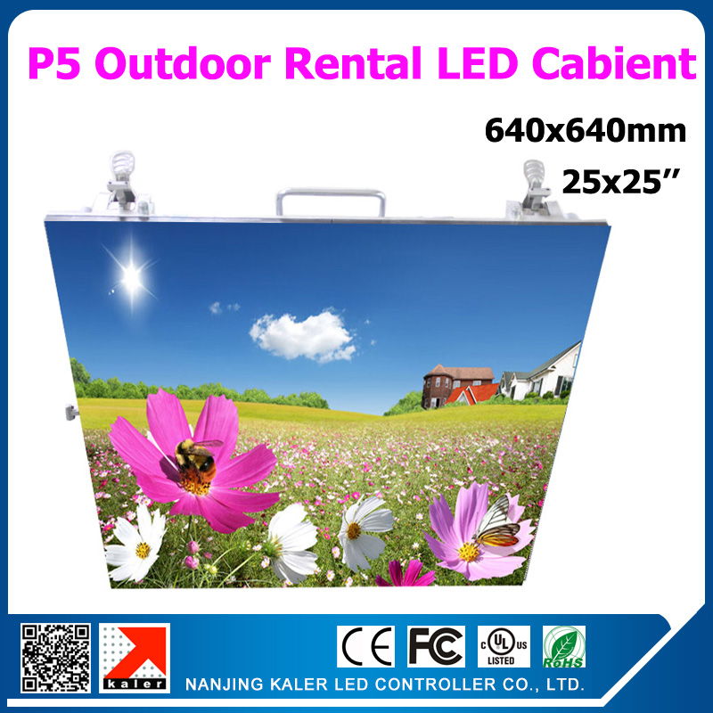 TEEHO Outdoor P5 Led Display Panel Hight Brightness 25 By 25 Inches Full Color Rental Led Display Cabinet 640x640mm Panel Screen