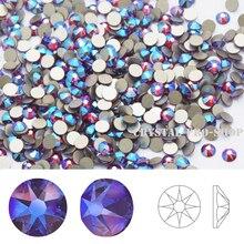 Элементами Swarovski Сиам мерцание(208 ШИМ)(ss5-ss20) эффектом мерцания(без горячей фиксации) Кристалл с плоской задней гранью Стразы