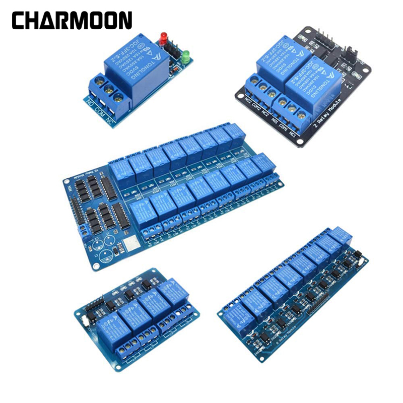 1 2 4 8 Channel DC 5V Relay Module With Optocoupler Output 1 2 4 8 Way Relay Module Expansion Board For Raspberry Pi
