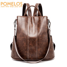 POMELOS Backpack Women 2019 New High Quality PU Leather Fashion Backpack For Women Urban Girls Functional Anti Theft Backpack(China)