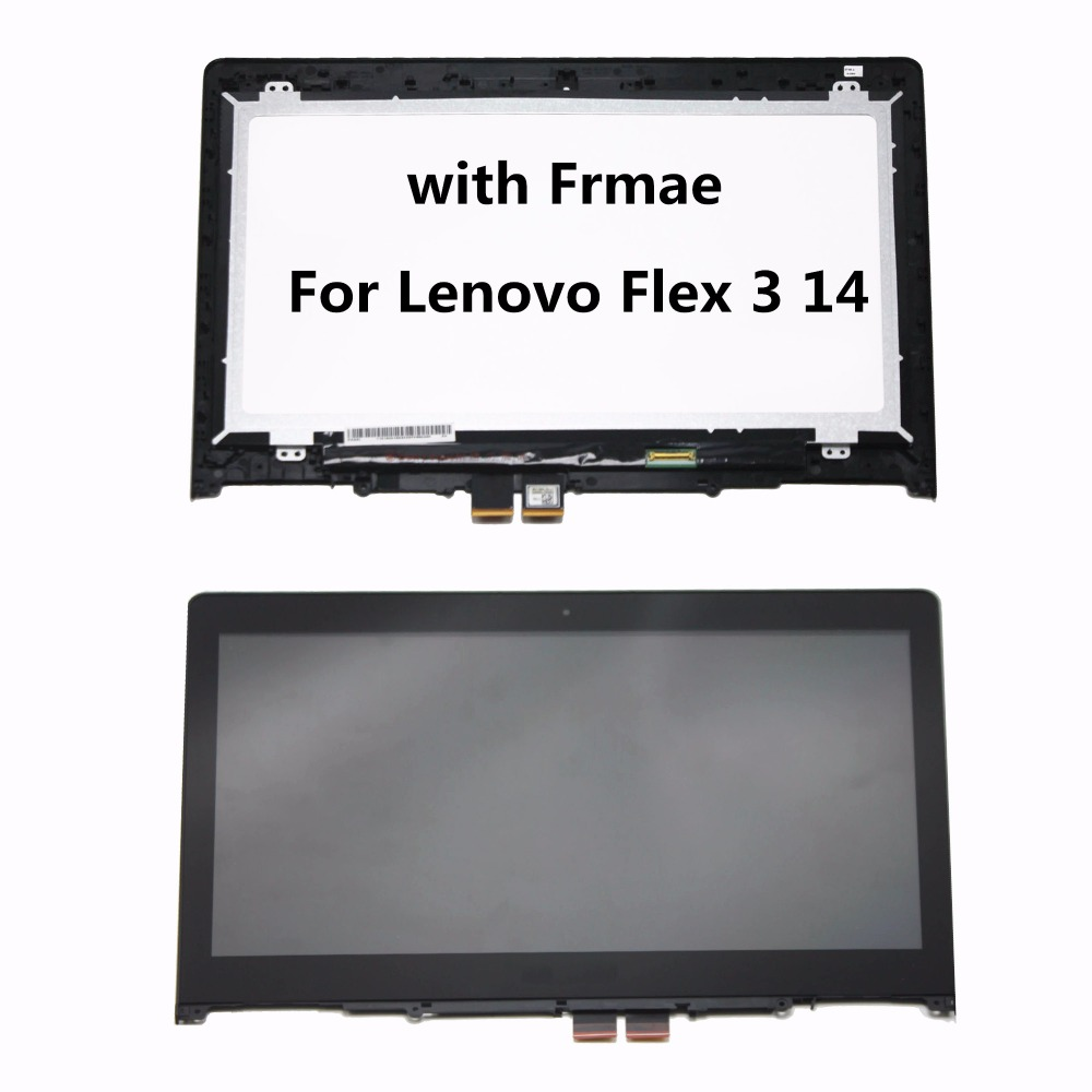With Frame New LCD Display Touch Screen Digitizer Assembly For Lenovo Flex 3 14 Flex 3 1470 Flex 3 1480 Flex 3 1435 Yoga 500 14 тетрадь на скрепке printio azimov