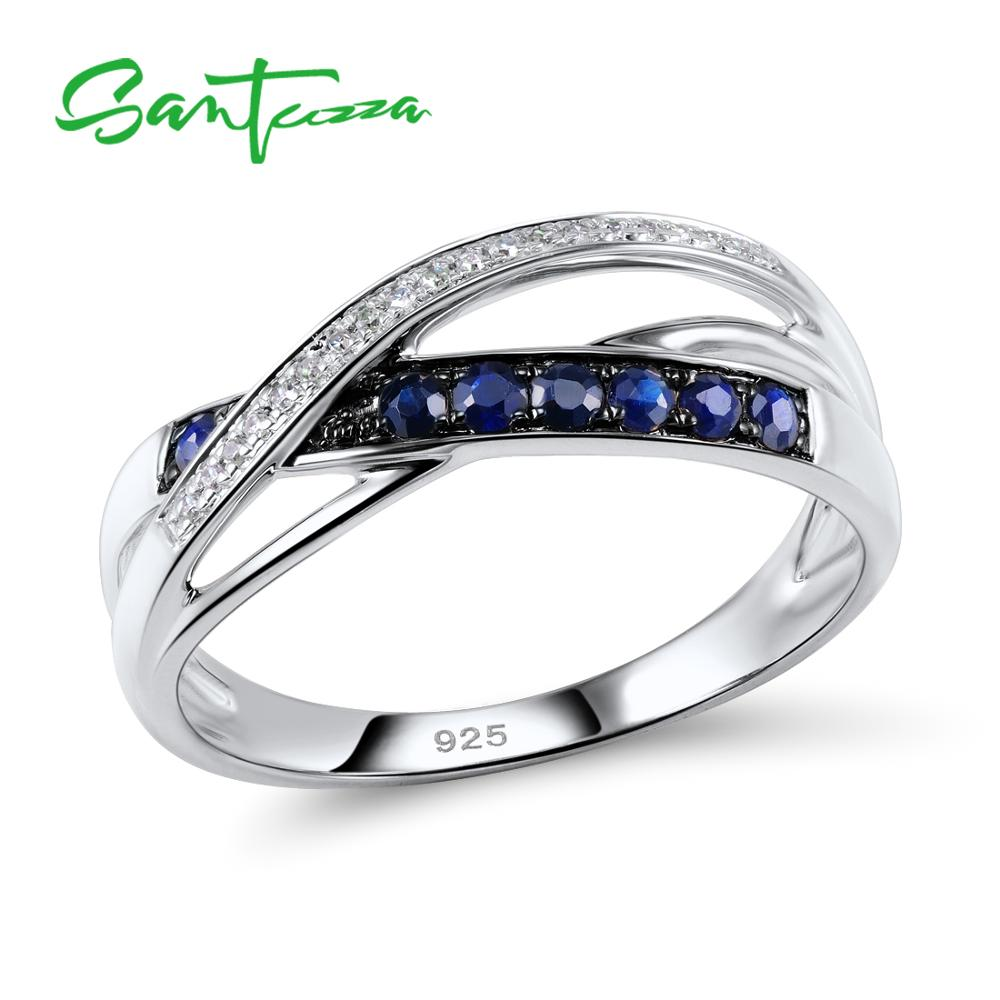 SANTUZZA Silver Ring For Women 925 Sterling Silver Endless Love Rings for Ladies Engagement Bridal Wedding Chic Jewelry цена 2017