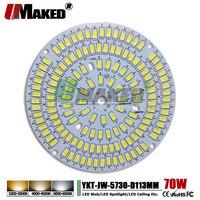 UMAKED 70W 113mm LED PCB SMD5730 ChipLED Source Aluminum Lamp plate Warm/Natural/White DIY Ceiling Lamp Bulb Bay light Spotlight