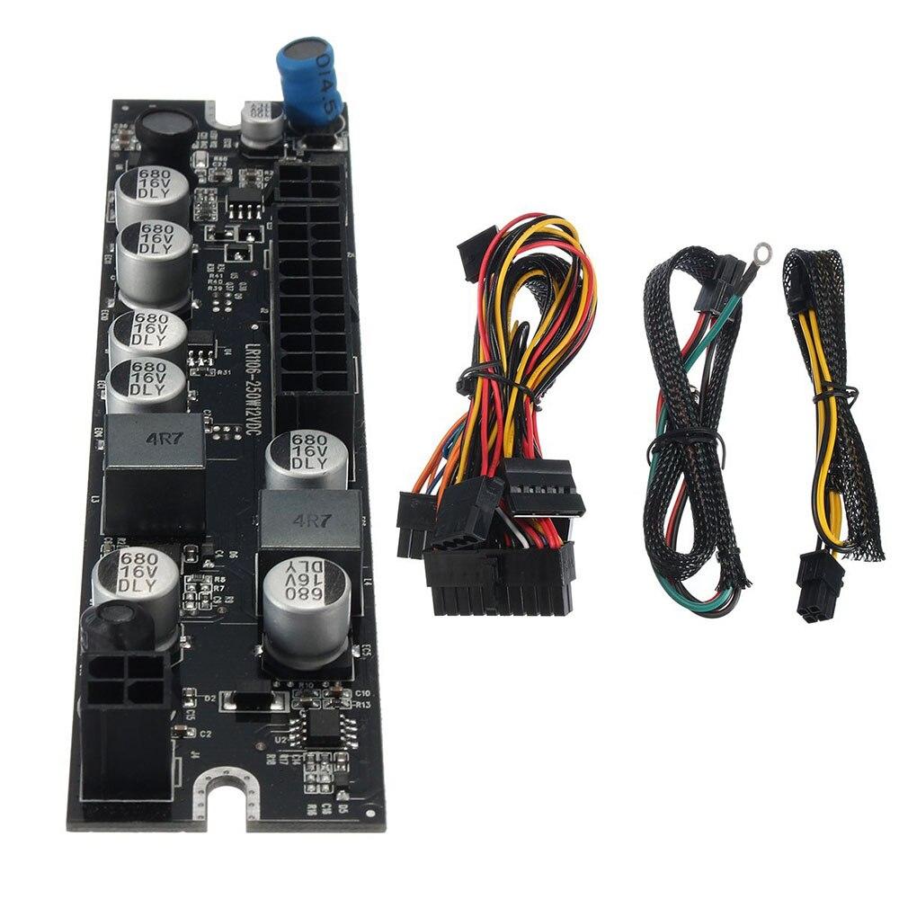 DC DC ATX PSU 12 V 250 W Pico ATX commutateur PSU 24pin MINI ITX DC à voiture ATX PC alimentation pour ordinateur