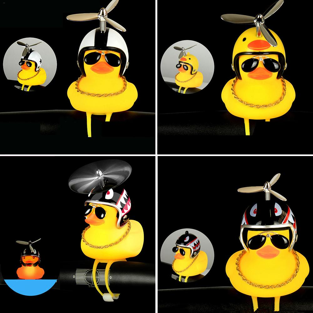 Duck Wearing A Helmet Shape Horn Bicycle Motorcycle Safety Helmet Shape Lamp Toy