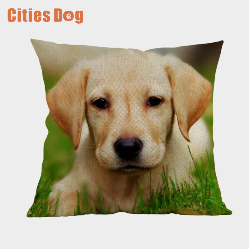 Decorative Animal Dog Pillowcase Labrador Retriever Dogs Style Sofa Decorative Cushion Cover Square Sofa/Bed Printed Pillow Cove