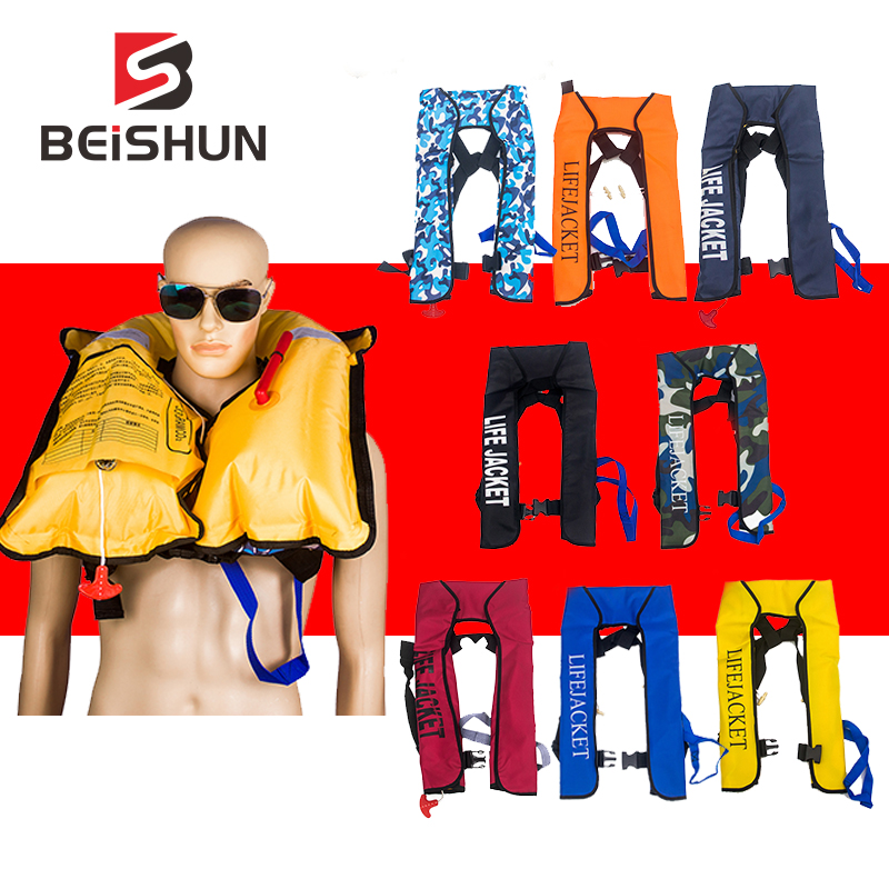 Can Be Customized Automatic Inflatable Life Jacket  Fishing Vest  Water Sports Swimming Survival Life Vest Men Women Lifejacket