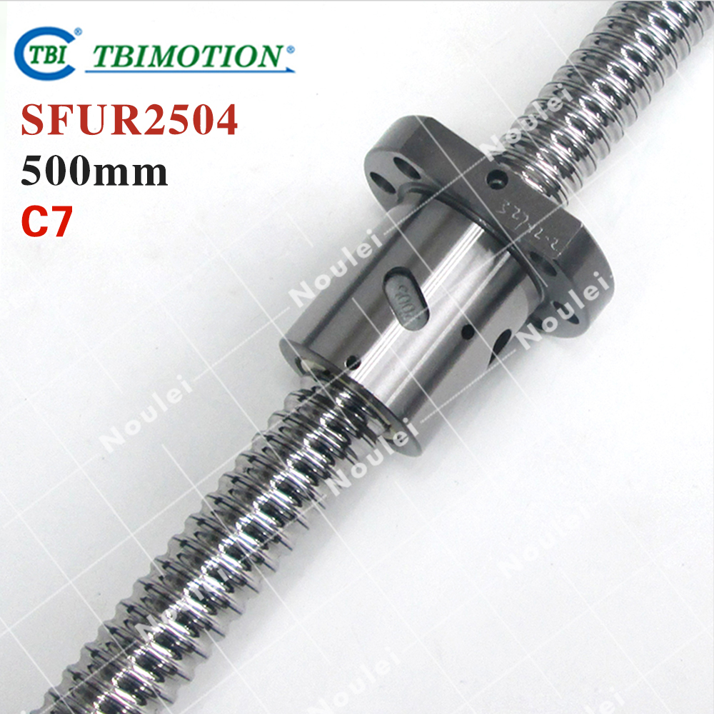 TBI Rolled ballscrew  500mm SFUR 2504 C7 4mm lead with SFU2505 Ball nut for cnc kit горелка tbi 17 dx25 4 м вентильная in 176 196 206lvp