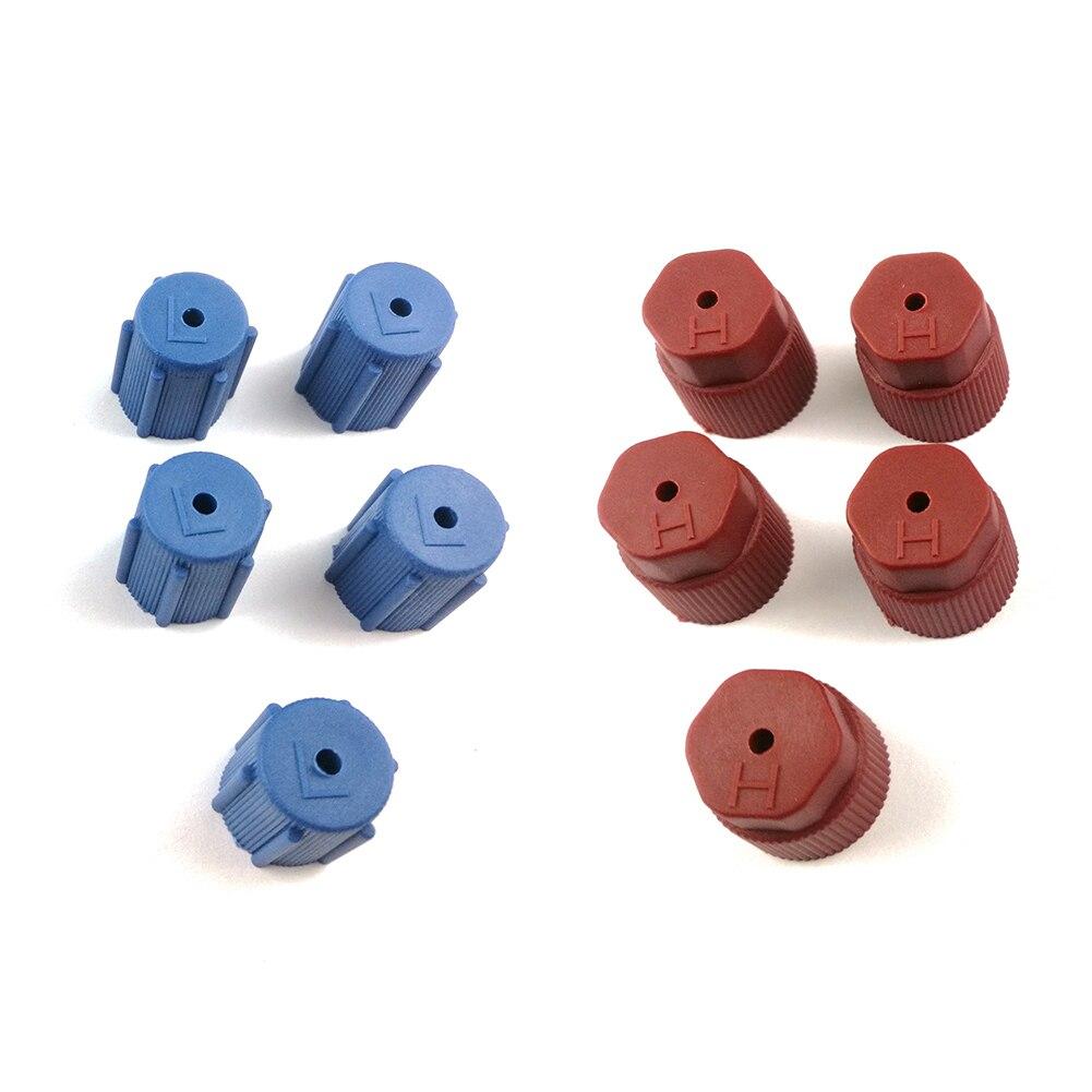 10PCS AC Charging Port Service Caps R134a 13mm /& 16mm LOT of RED /& BLUE A//C  US