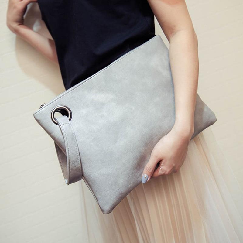 Large women clutch bag PU leather Women's Clutches envelope Wristlets Ladies evening bags wallet Handbags bolsa feminina