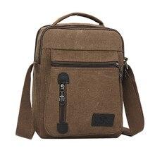Новое поступление, роскошная брендовая мужская сумка-мессенджер, винтажная модная холщовая однотонная Повседневная деловая сумка на плечо, сумки-мессенджеры