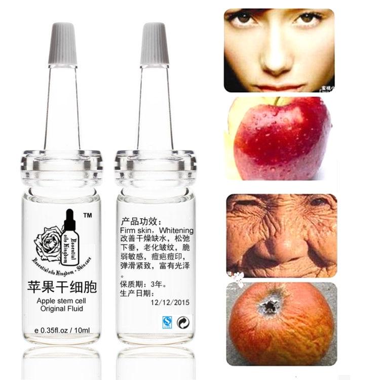 10ml * 2 հատ հատ խնձորի ցողունային բջջի օրիգինալ հեղուկ հեղուկ սպիտակեցնող կնճիռների խոնավեցնող հակատարիքային բշտիկավոր պրոլապս, փխրուն զգայուն
