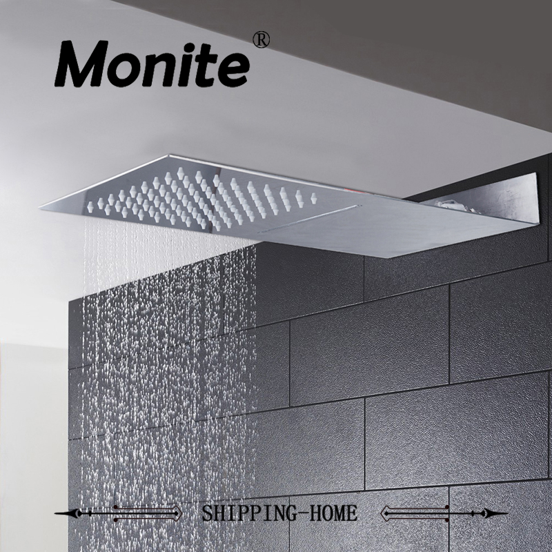 Square Stainless Steel Ultra-thin Shower Head Rainfall Shower Head Rain Shower Not Includes Shower Arm стоимость