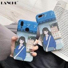 LANCHE Phone Case For Xiaomi Redmi Note 7 Cute Anime hard plastic Cover xiaomi mi 8 9 se lite 6X case Fundas