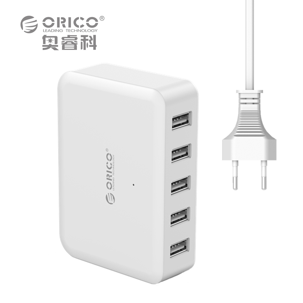 USB Charging Station 40W 5 Port Desktop Charger for iPhone 6 7 plus iPad Air 2