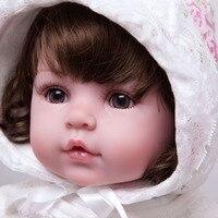 55 см мягкие силиконовые возрождается ребенка Куклы игрушки Реалистичные 22 дюймов винил принцесса для маленьких девочек младенцев жив как н