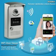 Sans fil à domicile d'alarme système audio pour la maison électrique porte cloche judas IP caméra pour appareils mobiles porte déverrouillage contrôle d'accès