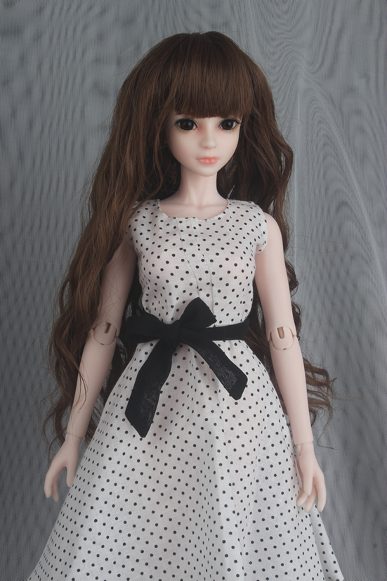 1/4 scale doll full set BJD Recast BJD/SD Kid cute Girl with face makeup Resin Doll Model Toy.include dress,shoes,wig.A15A213