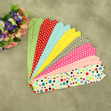 12pcs/lot Polka Dots DIY Wire Baby Girl Hair Bands Striped Ears Large Bow Headbands Flower Headwear Children Hair Accessories