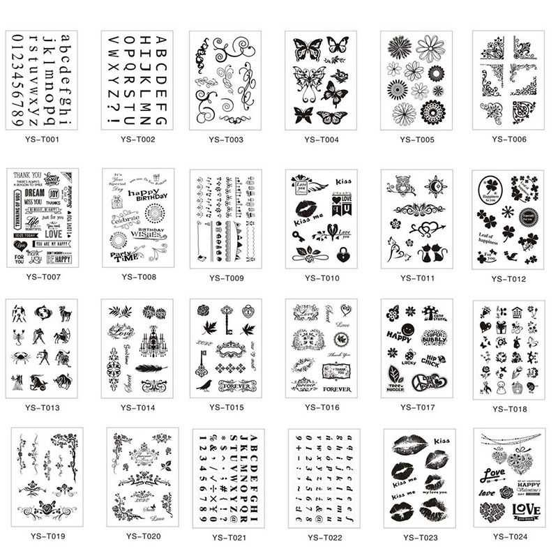 Hot Alphabet Transparent Silicone Clear Rubber Stamp Sheet