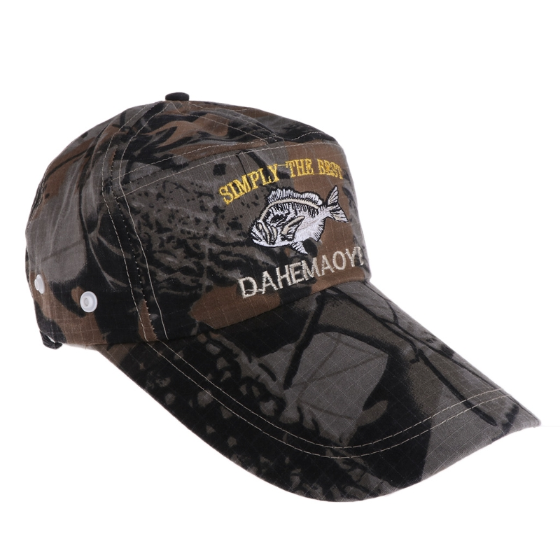 High Quality Fishing Cap Long Adjustable Outdoor Hunting Baseball Hat Breathable Camouflage adjustable letters embroidered baseball cap