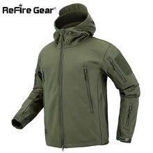 Refire gear камуфляжная военная куртка мужская водонепроницаемая мягкая оболочка тактическая куртка армейская одежда США зимнее флисовое пальто ветровка
