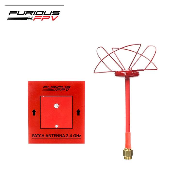 FuriousFPV 2.4 GHz 1.3dBi RHCP/LHCP antenne circulaire 6.2dBi Patch antenne FPV Combo SMA mâle pour les modèles RC Multicopter partie